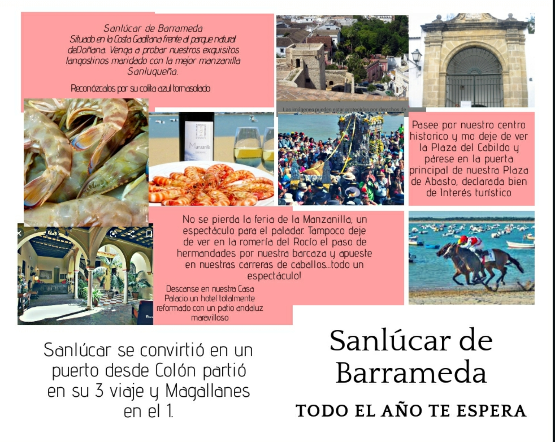 Folleto turístico - Sanlúcar de Barrameda (Joaquín Contreras - 3º ESO)